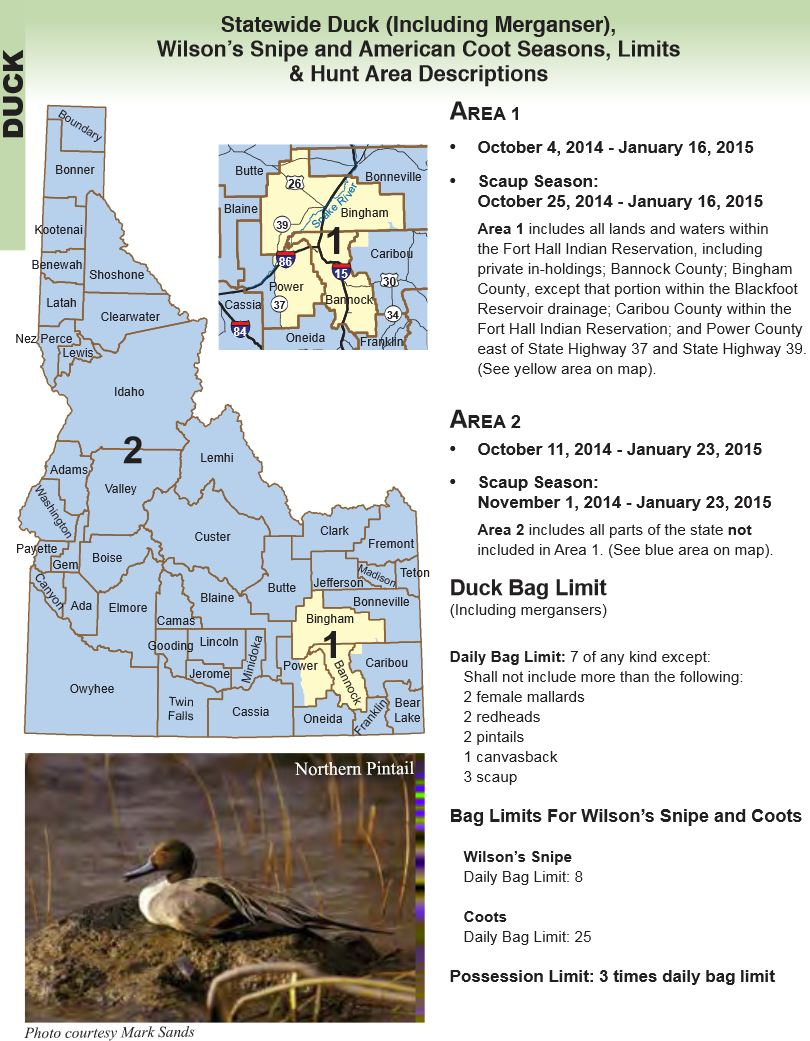 Idaho hunting seasons