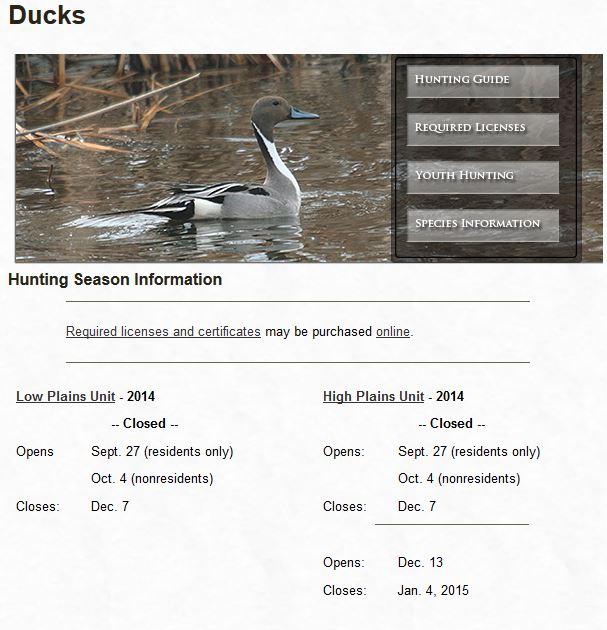 duck hunting in North Dakota